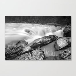 Long Exposure, Canadian Rockies Waterfall Canvas Print