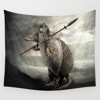 terry fan Wall Tapestries featuring Armadillo by Eric Fan & Viviana González by Eric Fan
