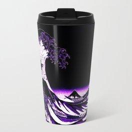 The Great Wave : Purple Travel Mug