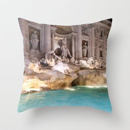 Trevi Fountain at night - Rome, Italy Throw Pillow