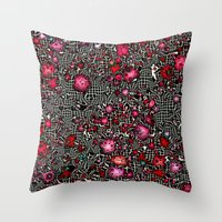 sci fi Throw Pillows featuring Sci-Fi Fantasy Cosmos by MehrFarbeimLeben