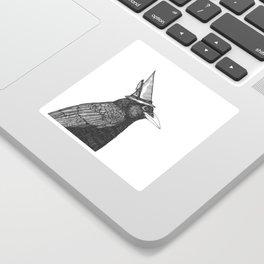 Willem Dacrowe Crow Wearing a Witch's Hat Sticker