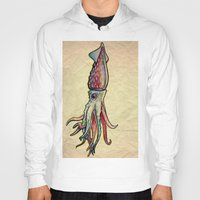 squid Hoodies featuring Squid by Irene Fratto Due