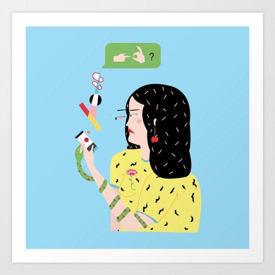 Eva felt sick and sad, she just wanted to f. Art Print
