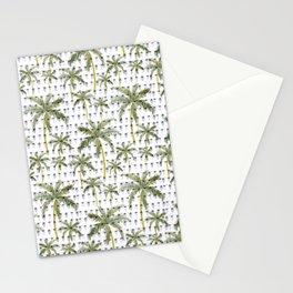 Coastal Christmas Palm Trees with Lights Stationery Cards