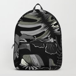 Palm leaves. Backpack