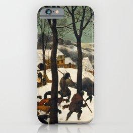 Pieter Bruegel The Elder - Hunters In The Snow, Winter iPhone Case