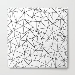 Ab Outline White Metal Print