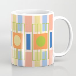 Geometric shapes in trendy colors Coffee Mug