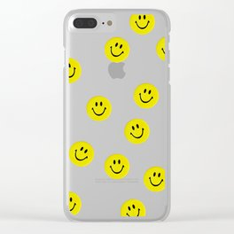 Smiley Smiley Smiley Clear iPhone Case