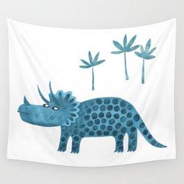 Triceratops Dinosaur Wall Tapestry