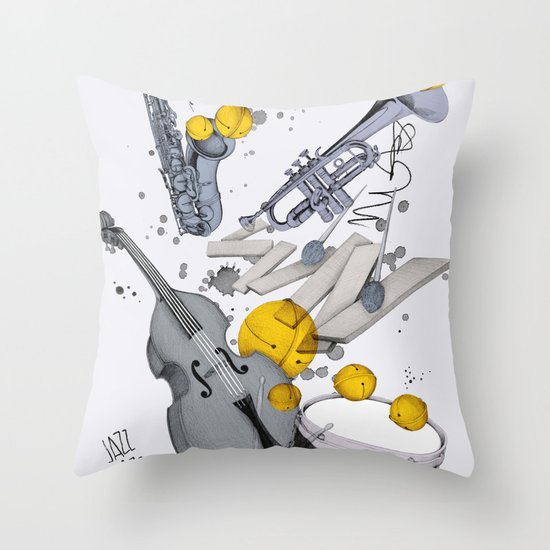Jazz Jazz Jazz Throw Pillow