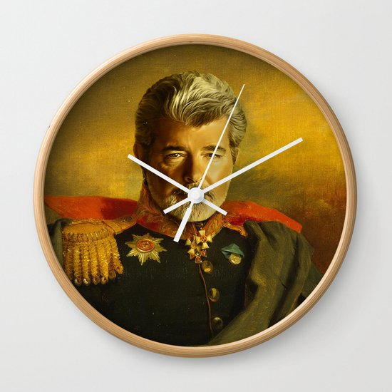 George Lucas - replaceface Wall Clock