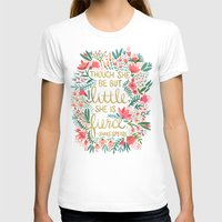 home T-shirts featuring Little & Fierce by Cat Coquillette