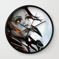 human Wall Clocks featuring Human by Ignacio de la Calle