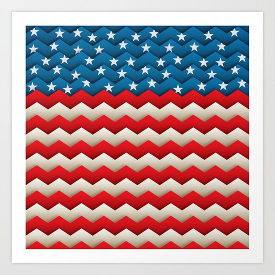 Chevron USA Art Print