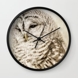 Barred Owl Wall Clock