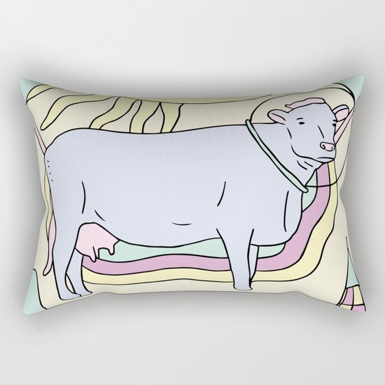 To The Moo Rectangular Pillow