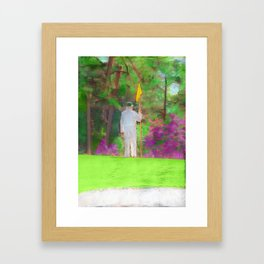 The Masters Golf Tournament - Golf Caddie - Augusta National Framed Art Print