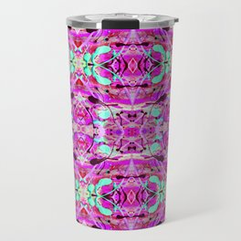 Pink Paint Splatter Print Travel Mug