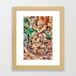 Garden Cherubs Framed Art Print