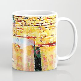 Hortus Conclusus: farmer with pomace in the cellar Coffee Mug
