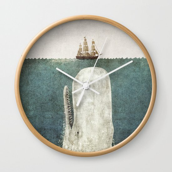 The Whale - vintage option Wall Clock