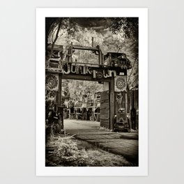 gate to Junktown Art Print