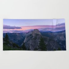 Yosemite National Park at Sunset Beach Towel