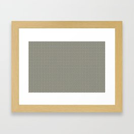 Muted Green & Beige Checkerboard Pattern Inspired By PPG Glidden Colors of 2019 Night Watch PPG114 Framed Art Print