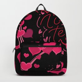 Valentine's Day Heart Wreath Love Team Backpack