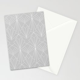 Art Deco on Grey Stationery Cards