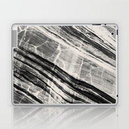Abstract Marble - Black & Cream Laptop & iPad Skin
