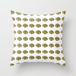 Matcha Cream Donut with Extra Chocolate Cream Topping Throw Pillow