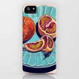 Blood Oranges in Gouache iPhone Case
