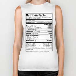 Human Nutrition Facts Biker Tank