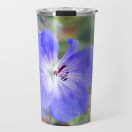 Blue Flower Travel Mug