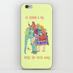 an Elephant a day iPhone & iPod Skin