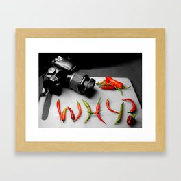 Why Indeed  Framed Art Print