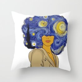Starry fro nights Throw Pillow