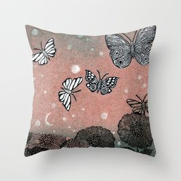 Night Garden (2) Throw Pillow