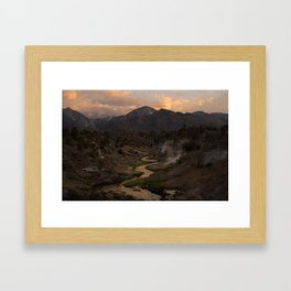 Hot Creek Sunset in the Sierras Framed Art Print