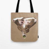 apple Tote Bags featuring Apple by fabiotir