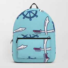 Pirates Elements Pattern  Backpack
