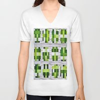 grass V-neck T-shirts featuring Grass by Yukska