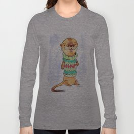 Otter in the sweater Long Sleeve T-shirt