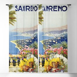 San Remo - Italy Vintage Travel Poster 1920 Blackout Curtain