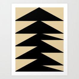 Arrowhead geometry motive Art Print