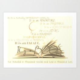 A Book Art Print