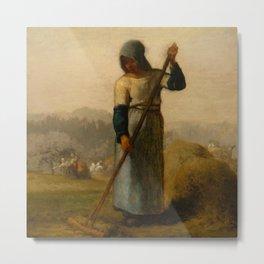 """Jean-François Millet """"Woman with a Rake"""" Metal Print"""